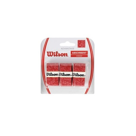 Овергрип WILSON Advantage Overgrip x3 Red