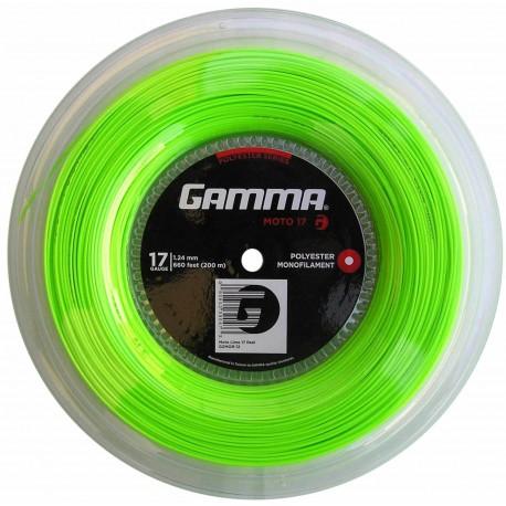 Теннисные струны Gamma Moto 17 (lime) 200 m