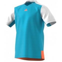 Футболка теннисная Adidas Голубая