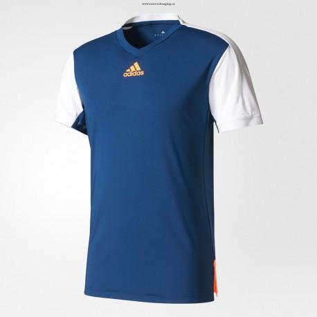 Футболка для занятий теннисом Adidas синяя