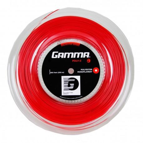 Теннисная струна GAMMA POLY-Z 17,16 (красная)